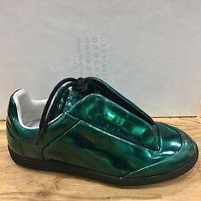 NEW Maison Martin Margiela Future Iridescent Green Metallic Sneakers Sz 36/ us 6