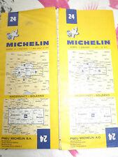 Carte Michelin 24 andermatt bolzano 1974