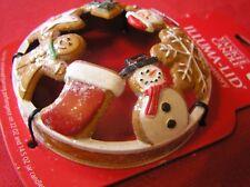Yankee Candle Santa Gingerbread Star Snowman Tree Cookies Illuma Lid Topper New