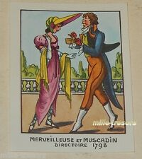 Image type Bon Point : MERVEILLEUSE et MUSCADIN 1798 EDITIONS EDUCATIVES CALVET