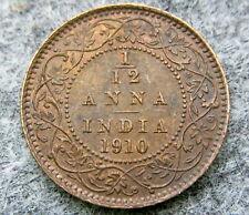 INDIA EDWARD VII 1910 1/12 ANNA