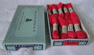 DMC DOLLFUS MIEG 10 échevettes coton retors à broder art.89 N° 4 réf 2309 boite
