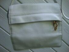 Nice! Americana By Sharif White Genuine Leather Cross Body Bag w/ Multi Pockets!