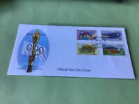 Mauritius Official First Day Olympic Games  Stamps Cover Ref 52284