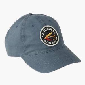 Filson Sail Cloth Low Profile Cap Slate Fly Badge