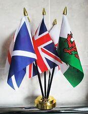 UNITED KINGDOM TABLE FLAG SET 5 flags ST GEORGE WALES SCOTLAND northern ireland
