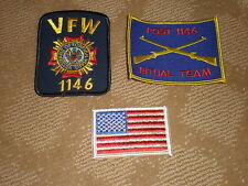 New listing United States Military Vfw Post 1146 Ritual Team, Vfw 1146 & U.S. Flag Patches