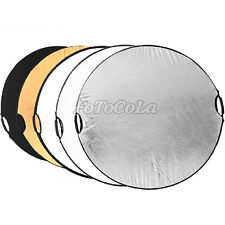 """5in1 32"""" 80cm handheld multi collapsible photography studio light reflector Disc"""