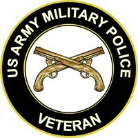 """Army Military Police Veteran 5.5"""" Sticker 'Officially Licensed'"""