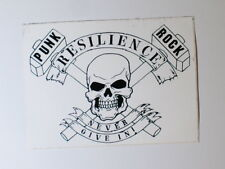 """RESILIENCE STREET PUNK BAND STICKER - 4.5X3.5 """"NEVER GIVE IN!"""""""