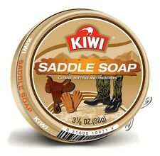Kiwi 109011 Saddle Soap 3-1/8oz Cleans Softens and Preserves Leather