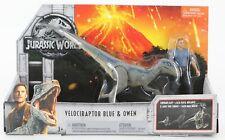 Mattel Jurassic World 2017 Velociraptor Blue & Owen Action Figures 1046T