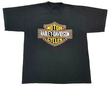 Vintage Harley Davidson Emblem Logo 1997 Tee Black Size M Mens T Shirt St Thomas