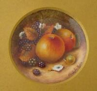 Christopher Hughes Fruit Painted Porcelain Picture (Royal Worcester Artist)