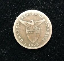 1928m (MULE) 20 centavos  US-Philippines Silver Coin - lot #6