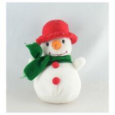 Doudou peluche bonhomme de neige rouge vert BALLON - Poupée - Lutin Classique