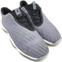 Kids Nike Air Jordan Future Low Gray Woven Basketball Shoes Youth 6Y 724813-004