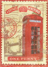 Rice Paper for Decoupage Scrapbook Craft Sheet - Red Telephone Box