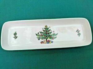 "NIKKO CHRISTMASTIME MINT CANDY SNACK CRACKER OBLONG DISH TRAY 8 3/4"" NEW"