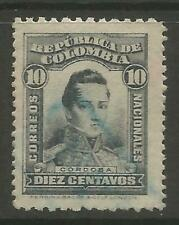 STAMPS-COLOMBIA. 1917. 10c Grey. Perf 11½ x 13½. SG: 362 var. Fine Used.