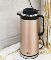Champaign Gold Stainless Steel Electric Aspect Kettle Boiler Jug 1000W 2L #