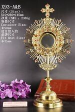 Ornate Brass Monstrance Reliquary with Lunette for Church Altar X93-A&B