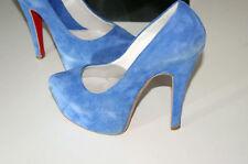 Citarelli scarpe donna decoltè n 36 blu tacco 120 mm usate e originale