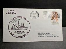 NOAA Ship CHAPMAN R446 Naval Cover 1980 SIGNED Cachet