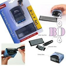 DIY SELF INKING RUBBER STAMP PRINTING KIT 3/5 LINE PERSONALISED NAME ADDRESS