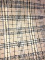 BULL DENIM CHECKERED PLAID UPHOLSTERY FABRIC BROWNS SHADES YARN DYE BY THE YARD