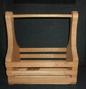 "Decorative Style Wood Basket with Handle (Handcarry) 10"" L X 5"" W X 10"" T"
