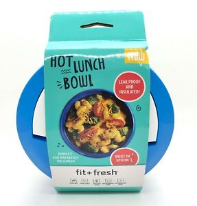 Fit + Fresh Hot Lunch Bowl Leak Proof & Insulated 3 Piece Set Blue