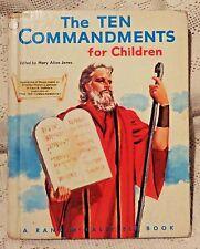 VINTAGE 1956 RAND  MCNALLY & CO. ELF BOOK - THE TEN COMMANDMENTS FOR CHILDREN