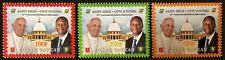 2020 50° relazioni diplomatiche con Vaticano - Costa d'Avorio - serie 3v