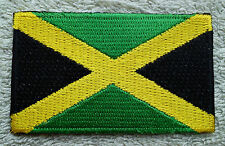 JAMAICA FLAG PATCH Embroidered Badge Iron or Sew on 4.5cm x 6cm West Indies NEW