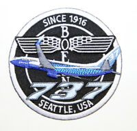 PATCH Boeing B737 *BLUE* Bomber Pilot Jacket sew-on / iron-on large fabric