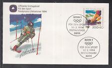 "Germany 1994 ""Paralympics Lillehammer"" beautiful artist FDC"