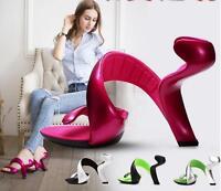Chic Womens Stilettos Unique Design Party Nightclub Sexy Wedding High Heel Shoes