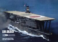 IJN Aircraft Carrier Akagi Cut Out Paper Model Scale 1:200 Laser Frames + Detail