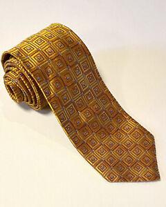 """Robert Talbott Best of Class XL Gold/ Copper/ Blue Thick Long Silk Tie EUC 66"""""""