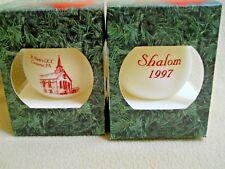 2 Vintage 1997 St Mark's UCC Cressona Pa SHALOM Christmas Ornaments