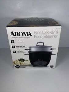 Aroma Housewares 6-Cup (Cooked) Pot-Style Rice Cooker Food Steamer, Black
