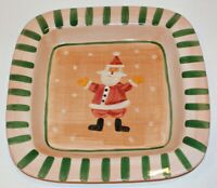 "Marco e Cristina Large 15"" Square Christmas Santa Serving Platter Plate - Italy"