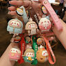 Molang Rabbit Cartoon Rubber Key Chains Lovers Bag Car Pendant PVC  Key Ring