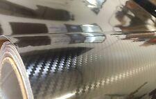 5D Gloss Black Carbon Fiber CF 2FT x 5FT Vinyl Auto Car Wrap Sticker Decals Film