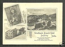 Darjeeling Woodlands Branch Hotel Ghoom Witch India 1898 court card