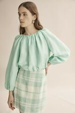 Country Road Bubble Sleeve Top - Mint