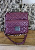 NEW MICHAEL KORS Sloan Medium Swing Pack Plum Quilted Leather Crossbody $268