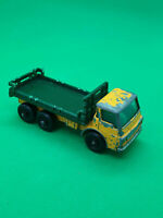 vintage lesney stake truck No4 in original playworn condition,in green/yellow.