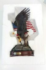 "The Bradford Exchange Ted Blaylock ""Resounding Courage"" Bald Eagle Sculpture"